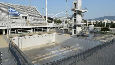 The Olympic aquatics centre in Athens