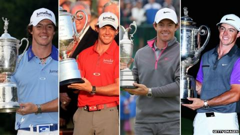 Rory McIlroy through the majors