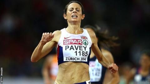 Jo Pavey wins the European Championships 10,000m