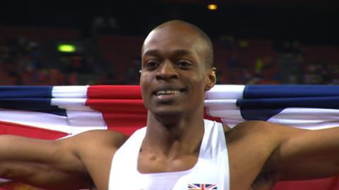 Britain's James Dasaolu sprints to European gold