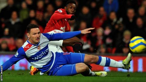 Sean Morrison in action for Reading