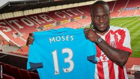 Stoke winger Victor Moses