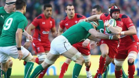 Ireland beat Wales in the 2014 Six Nations at the Aviva Stadium