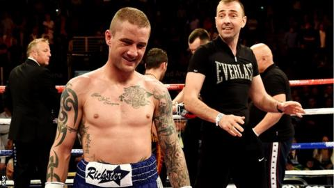 Ricky Burns grimaces after losing out to Dejan Zlaticanin