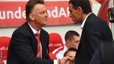 Louis van Gaal and Gus Poyet
