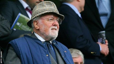 Lord Richard Attenborough at Stamford Bridge