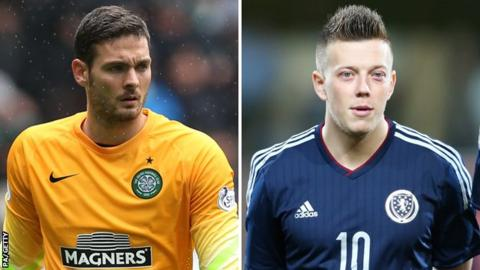 Craig Gordon and Callum McGregor