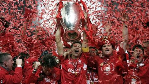 Lierpool champions league trophy