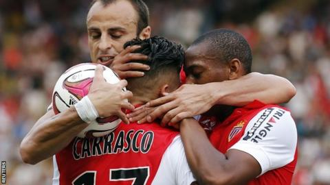 Monaco drew 1-1 against Lille without Radamel Falcao