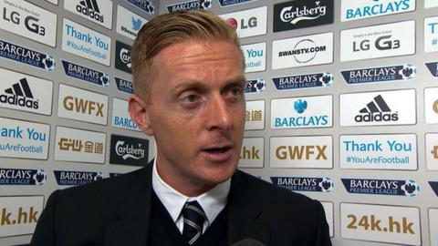 Swansea head coach Gary Monk