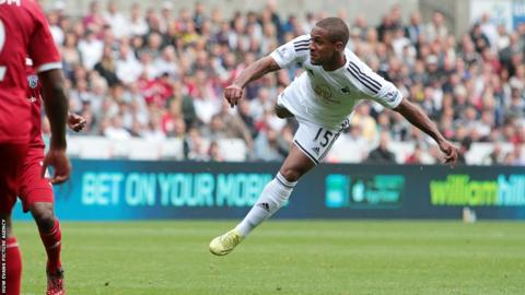 Swansea extended their lead after Wayne Routledge scored a spectacular goal.
