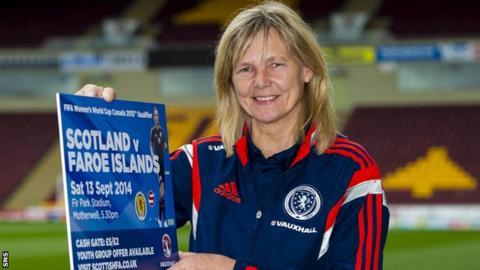 Scotland's women's coach Anna Signeul