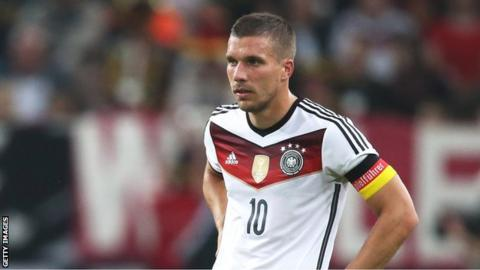 Germany forward Lukas Podolski
