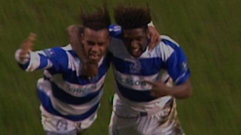 QPR's Trevor Sinclair celebrates FA Cup goal
