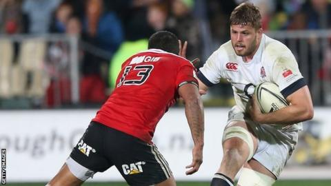 Ed Slater in action for the England midweek side against Crusaders in June