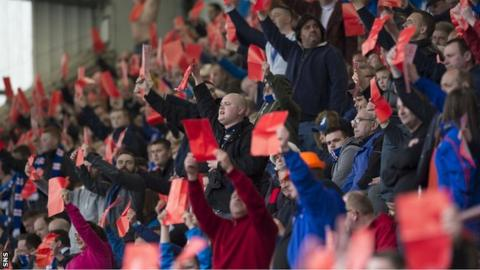 Rangers fans protest about the club's board