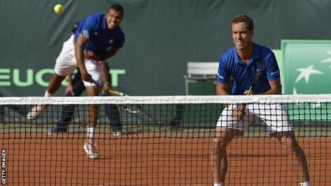 Jo-Wilfried Tsonga (left) and Richard Gasquet