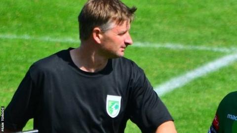 Guernsey FC manager Tony Vance