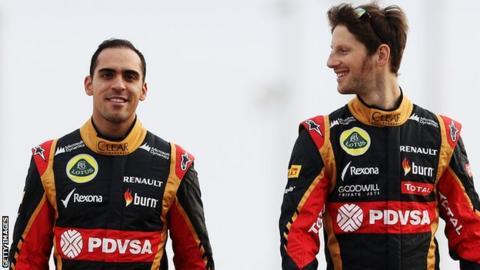 Pastor Maldonado and Romain Grosjean