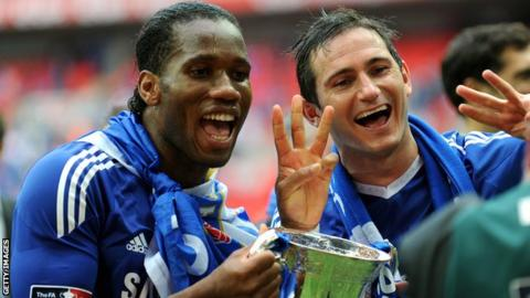 Didier Drogba (left) and Frank Lampard