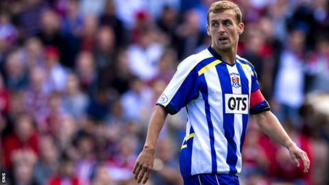 James Fowler during his time at Kilmarnock