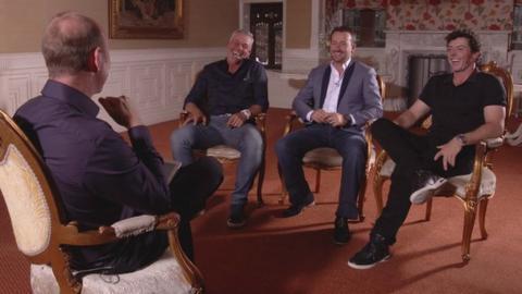 Northern Ireland's three major champions talk to BBC NI's Stephen Watson