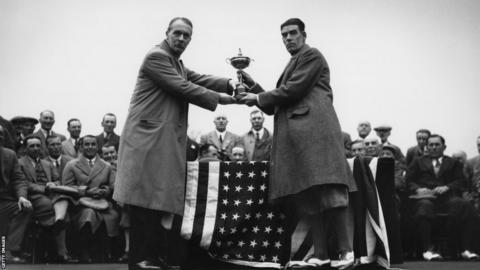 George Duncan (right) in 1929