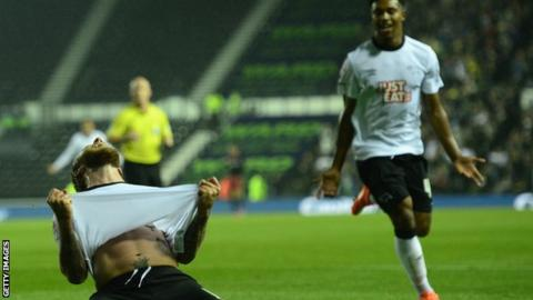 Derby beat Reading to reach the League Cup fourth round