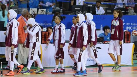 Qatar women's basketball team