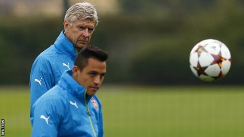 Arsenal manager Arsene Wenger and forward Alexis Sanchez