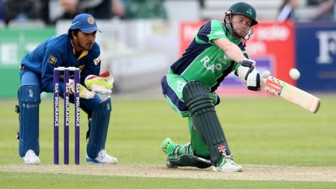 William Porterfield batting against Sri Lanka