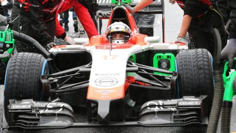 Jules Bianchi prior to the Japanese Grand Prix