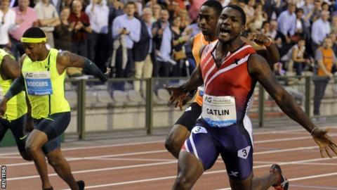 Justin Gatlin at the Brussels Diamond League meeting
