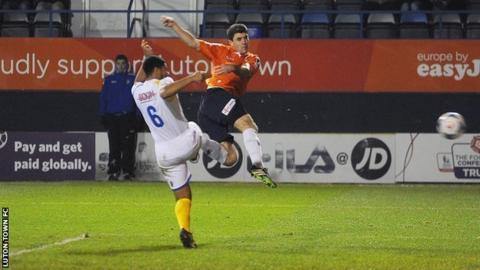 Luton Town defender Andy Parry