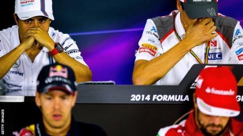 Felipe Massa, Adrian Sutil, Sebastian Vettel, Fernando Alonso