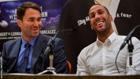 Eddie Hearn and James DeGale