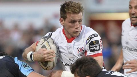 Ulster winger Craig Gilroy ran in Ulster's first try