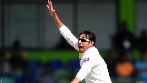 Pakistan bowler Saeed Ajmal