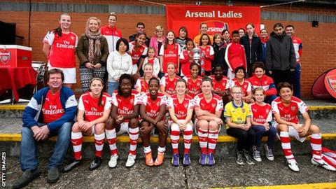 Arsenal Ladies and supporters