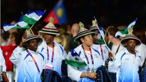Lesotho team at the London 2012 Olympics