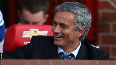 Jose Mourinho at Old Trafford, August 2013