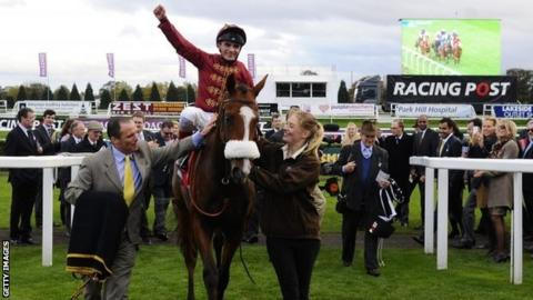 Elm Park jockey Andrea Atzeni was winning the race for the second year