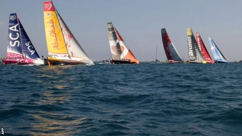 Abu Dhabi Ocean Race moved into the Volvo Ocean Race lead on Saturday