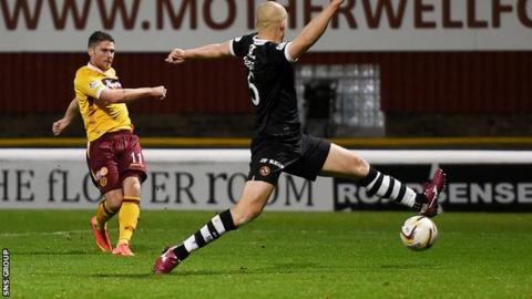 Iain Vigurs' winning goal took a slight deflection off defender Jaroslaw Fojut