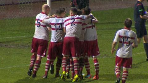 Highlights - Stirling Albion 2-2 Hurlford (aet 13-12 pens)