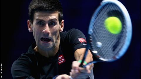 Novak Djokovic at the O2