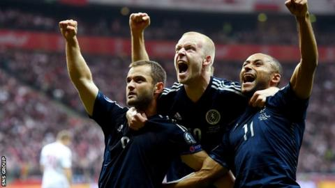 Scotland are three points behind the Republic of Ireland in Group D