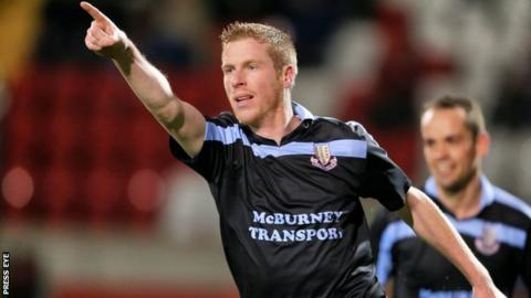 Darren Boyce came off the bench to put Ballymena 3-1 ahead against Dungannon