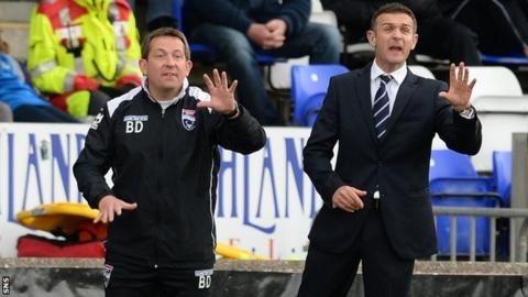 Jim McIntyre and his assistant Billy Dodds moved to the Staggies after Derek Adams was sacked