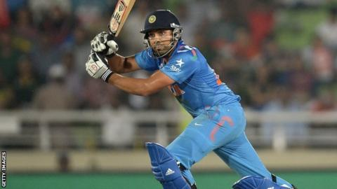 Rohit sharma india batsman hits 264 the highest odi score bbc